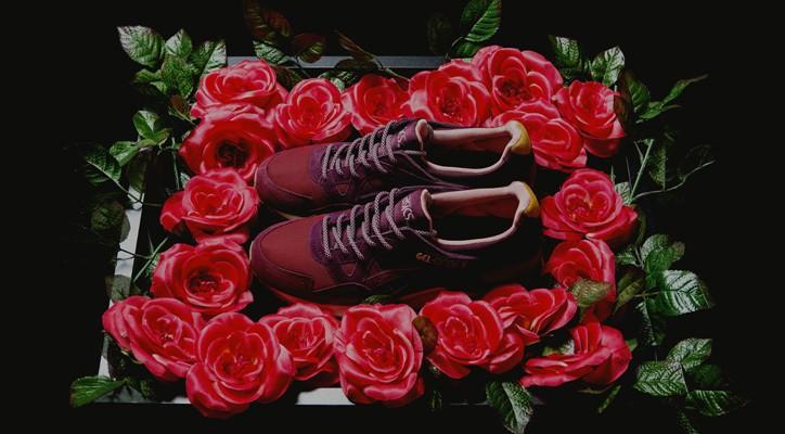 mita sneakers x asics gel lyte v dried rose