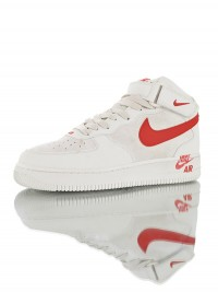 "Nike Air Force 1 Mid '07 ""Rice white Red"""