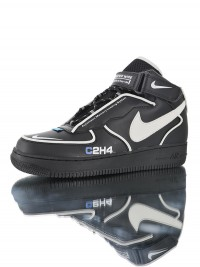 "C2H4 x Nike Air Force 1 Mid""Reveals Reflective"" BQ7541-001"