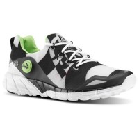 Reebok ZPump Fusion 2.0 Running White_Black_Tin Grey_Solar Green