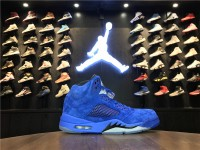 "Nike Air Jordan 5 ""Blue Suede"" 136027-401"