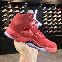 "Nike Air Jordan 5 ""Red Suede"" 136027-602"