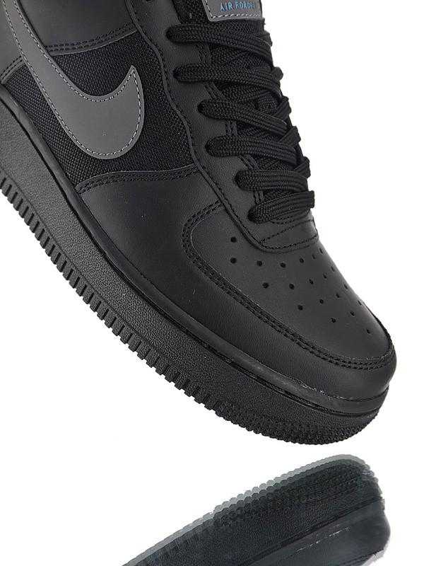 12b8fe29 Купить Nike Air Force 1 Low низкие полностью черные с серым лого