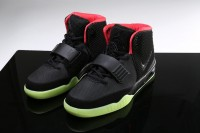 Nike Air Yeezy II Glow In The Dark-Black Solar Red