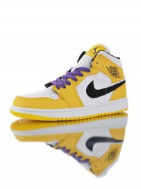 "Nike Air Jordan 1 Mid ""Lakers"" 852542-700"