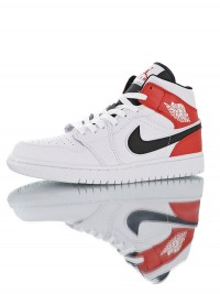 "Nike Air Jordan 1 Mid ""White Red Black"" 554724-116"
