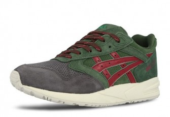 Asics Christmas Pack 2014 Gel Saga dark green / burgundy