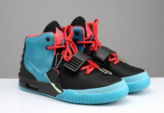 Nike Air Yeezy 2 South Beach Black Blue Red