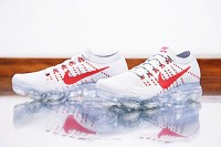 "Nike Air VaporMax ""Pure Platinum-University Red"" 849558-006"