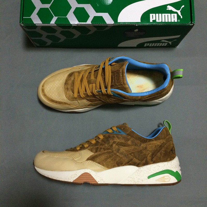 Puma X Shadow Society R698 trinomic gold