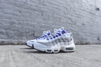 Nike air max 95 White-Court Purple-Emerald Green-Wolf Grey