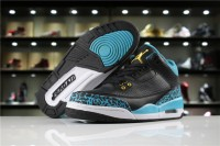 "​Nike Air Jordan 3 GS ""Black Gold-Teal"" 441140-018"