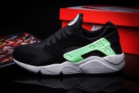 Nike Air Huarache LE Black Lime Green